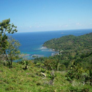 Vista de la comunidad de Santa Isabel, direccion al mar, Provincia de Colon.